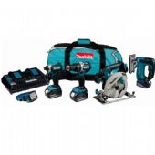 Makita DLX5043PT LXT 18V Brushless Li-Ion 5 Piece Kit (3 x 5 Ah Batteries)